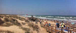 Playa el Carabassi aan de Costa Blanca