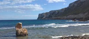 Playa les Rotes aan de Costa Blanca